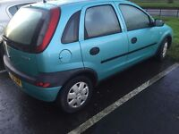 2003 Vauxhall corsa 1.2 mot may ((bargain))