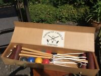 Townsend Wooden Croquet Set, full size. Excellent condition.