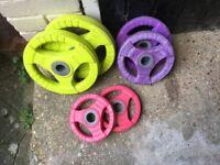 Set of ladies free weights