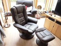 Reclining chair & stool