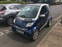 Smart City Passion 61 698cc Petrol Automatic Coupe 07 Plate 04/05/2007 Blue