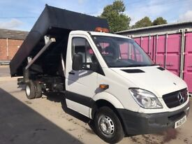 MERCEDES SPRINTER 513 , 61REG, TIPPER/CAB CHASSIS FOR SALE