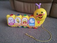 Fisher price laugh and learn caterpillar baby toy in Polish language!