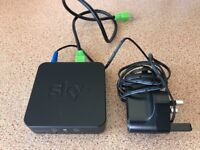 SKY wireless wifi connector (sc201) TV on demand adaptor for SKY + HD box including leads