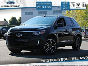 2013 Ford Edge RARE !! **SEL*AWD*CUIR*TOIT*NAVI*CAMERA**