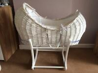 Mothercare pod Moses basket and rocking stand
