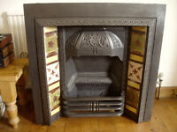 Fireplace Insert, Cast Iron For Sale