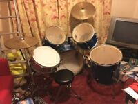 Drum kit for sale £100. Reduced for quick sale
