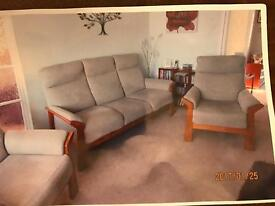 Cintique settee and two chairs