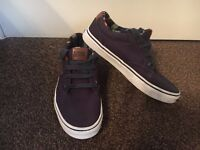 As new condition - Vans navy canvas shoes, size 3