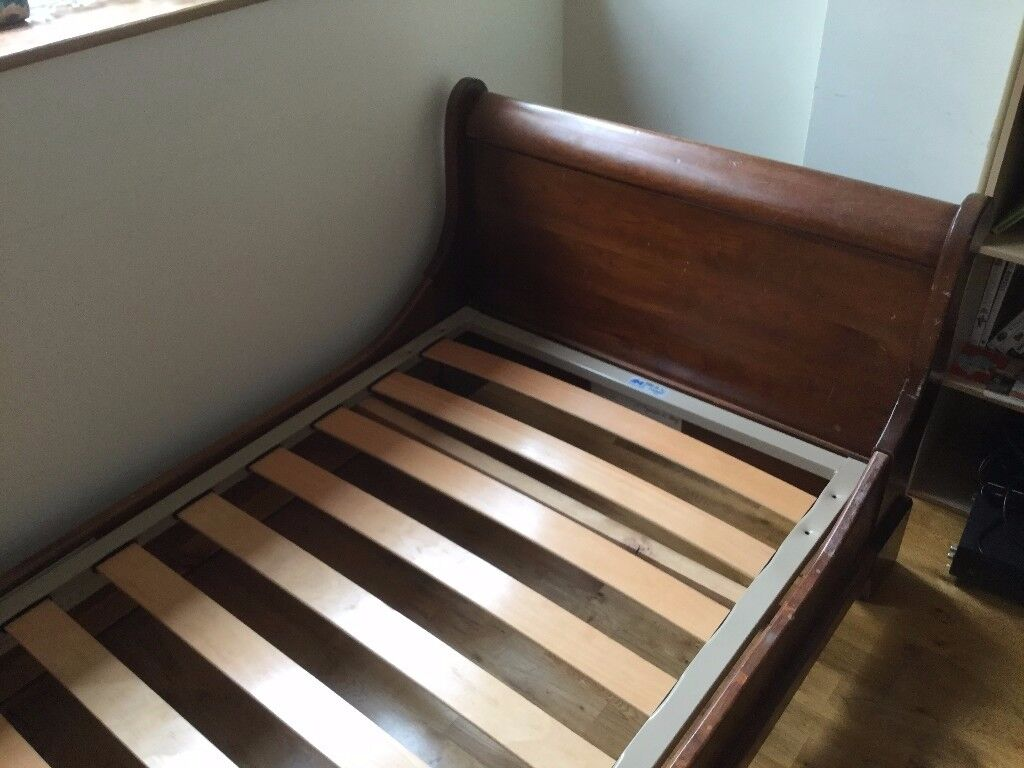 2 Antique french single beds Louis Philippe Style oak - not twin beds but same style