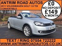 2011 VOLKSWAGEN GOLF 1.6 TDI SE ** CONVERTIBLE ** FINANCE AVAILABLE