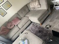 corner sofa and puff included for free excellent condition