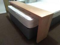 Wooden Bed Desk W/ Wheels