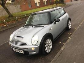 2003 03 Mini Cooper S 1.6 supercharged. Very low mileage. IMMACULATE. Long MOT. CARDS ACCEPTED***