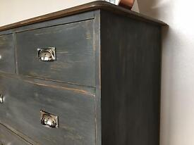 Rustic Chic Graphite Pine Drawers