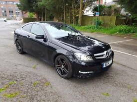 Mercedes C Class C220 CDI Black AMG Sports Edition 7G Auto-Tronic 2 door Coupe
