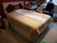 King size divan bed with mattress