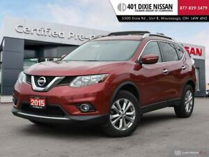 2015 Nissan Rogue SV AWD 1 OWNER OFF LEASE BACKUP CAM HTD SEATS