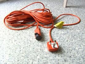 Original Flymo lead, plug and socket