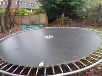 "Large 14"" John Lewis TP Trampoline with safety net and cover."