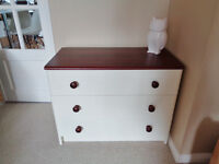 CREAM CHEST OF DRAWERS, 3 drawers