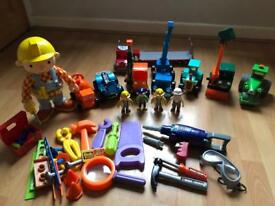 Bundle of Bob the Builder Toys - Interactive Bob, Vehicles, Figures, Drill and Tools