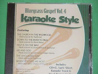 Bluegrass Gospel Volume #4  Christian  Daywind  Karaoke Style  CD+G NEW  Karaoke