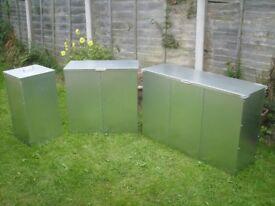 galvanised feed storage bins