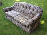 Liberty Style Fabric Vintage Triple Sofa, Double Sofa, Armchair, originally from Harrods