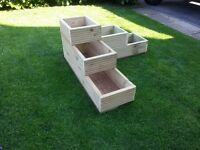 Decking Corner Planter, High Quality 3 Tiered. Pressure treated decking timber.