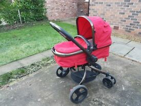 Mothercare Orb pram, MaxiCosi car seat and Isofix base - Good condition
