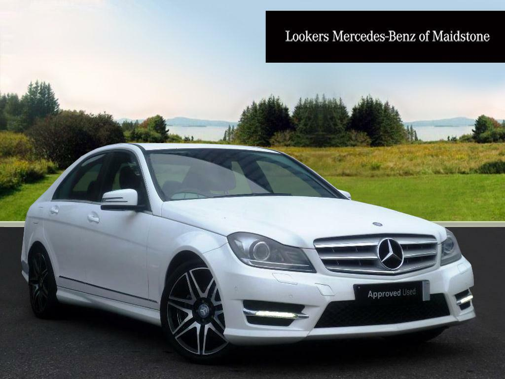 mercedes benz c class c220 cdi blueefficiency amg sport plus white 2012 09 13 in maidstone. Black Bedroom Furniture Sets. Home Design Ideas
