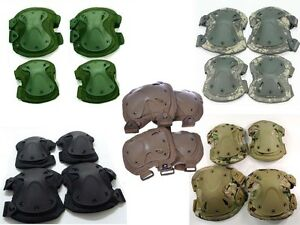 Military-USMC-Army-SWAT-Tactical-Protection-Knee-Elbow-Pad-Set-Knee-Elbow-Pads