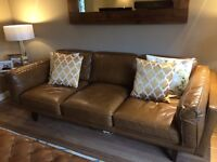 LEATHER SOFA BARKER AND STONEHOUSE