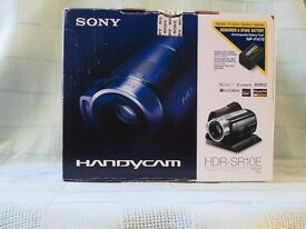 Sony HDR-SR10E Sony High Definition 40GB Hard Disc Drive Handycam Digital Camcorder & several extras