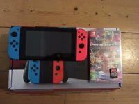 Nintendo Switch Neon 32gb and Mario kart 8 deluxe