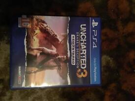 PS4 game uncharted 3 excellent condition