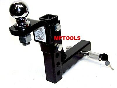 """10"""" Drop Hitch Mount 2"""" Receiver Adjustable  With 2"""" hitch ball and Pin Lock"""