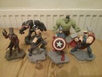 Disney Infinity Figures (Marvel, Thor, Starlord, Captain America, Hulk, Hawkeye, Venom)