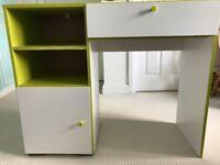 Desk with storage space