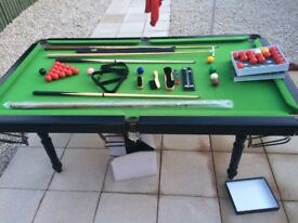 Ambassador snooker table 6by3