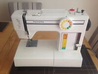 Toyota electric sewing machine with pedal & cover - Model 2466