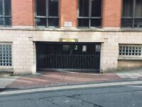 Gated parking space in a garage on Plumptre Street in the Lace Market, Nottingham, NG1 1JP