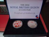Royal Mint Royal British Legion £5.00 Coin Pair