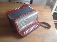 Barcorole D-G Button Accordion / Melodeon Musical Instrument Excellent Condition