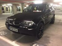 """2006 bmw x3 3.0 d se auto blk on blk leather satnav pdc 20"""" blk wheels immaculate"""