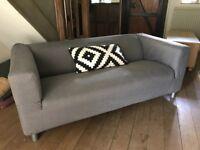 IKEA Charcoal Grey Klippan Sofas (2 available)