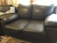 Free two seater faux leather sofas x3