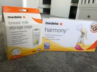Madela Harmony Manual Breast Pump and Bags